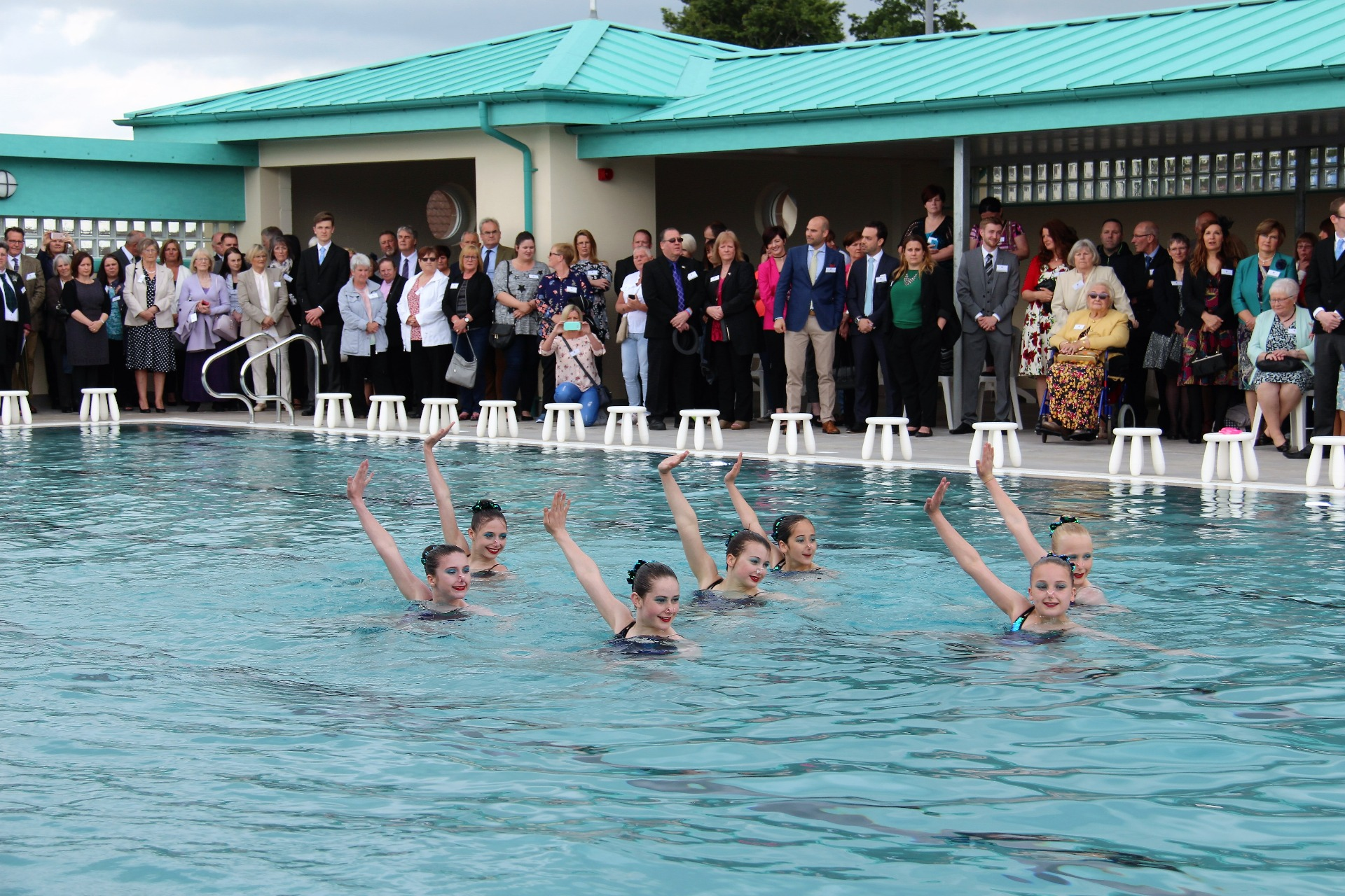 Niamh helps prince charles re open new cumnock pool for New cumnock outdoor swimming pool